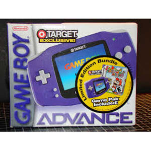 Complete Game Boy Advance System Purple Target Exclusive LE