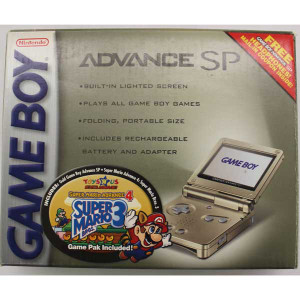 Complete Game Boy Advance SP System Gold Toys R US Exclusive