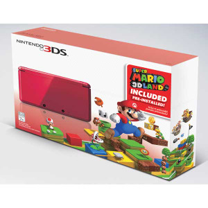 Super Mario 3D Land Nintendo 3DS Flame Red with Charger In Box