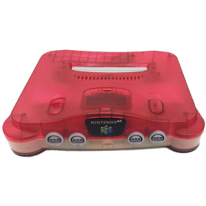 N64 Console Clear Red / Clear