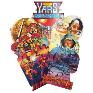 5 Poster Set Vintage 1982 - Atari 2600