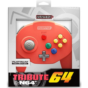 New N64 RetroBit Tribute Controller Red in box