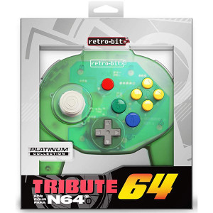 New N64 Retro-Bit Tribute Controller Forrest Green  in Box