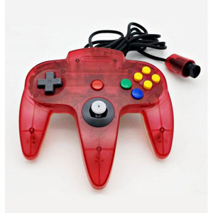 Original Controller Red on Clear Controller For Nintendo N64