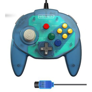 New RetroBit Tribute Controller Ocean Blue - N64