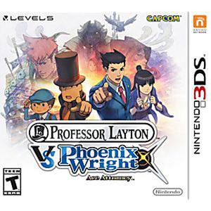 Professor Layton VS Phoenix Wright Ace Attorney - 3DS Game