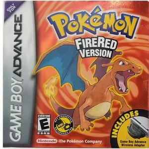 Pokemon Fire Red Version Deluxe - Game Boy Advance Box Art
