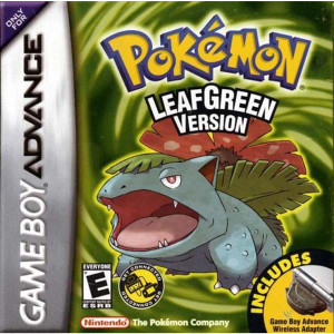 Pokemon Leaf Green Version Deluxe - Game Boy Advance Box Art