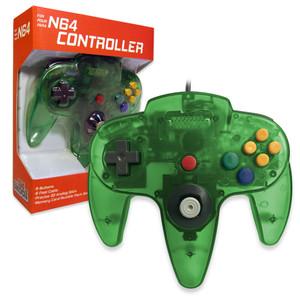 New Replica Controller Clear Jungle Green - N64