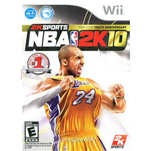 NBA 2K10 NBA Basketball (Kobe Bryant) Wii Nintendo used video game for sale online.