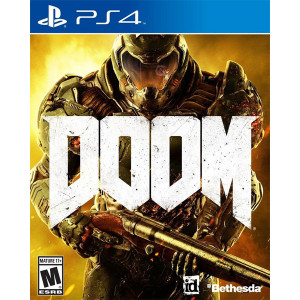 Doom Playstation 4 PS4 used video game for sale online.