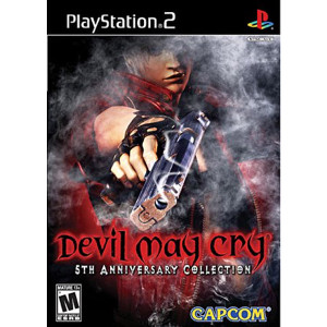 Devil May Cry 5th Anniversary Collection black box version playstation 2 PS2 used video game for sale online.