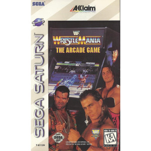 WWF Wrestlemania the Arcade Sega Saturn used video game for sale online.