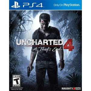 Uncharted 4 A Thief's End Playstation 4 PS4 used video game for sale online.