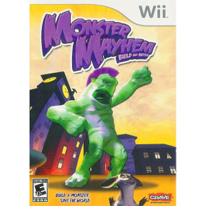 Monster Mayhem Build and Battle Wii Nintendo used video game for sale online.