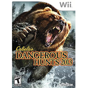 Cabela's Dangerous Hunts 2013 Wii Nintendo used video game for sale online.