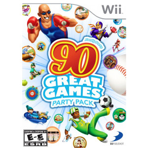 90 Great Games Party Pack Wii Nintendo used video game for sale online.