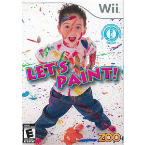 Let's Paint Wii Nintendo used video game for sale online.