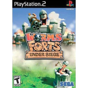 Worms Forts Under Siege Sony Playstation 2 PS2 used video game for sale online.
