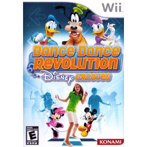 Dance Dance Revolution Disney Grooves Wii Nintendo used video game for sale online.