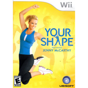 Your Shape Featuring Jenny McCarthy Wii Nintendo used video game for sale online.