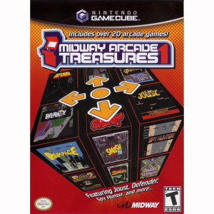 Midway Arcade Treasures 1 Nintendo GameCube Game with Rampage, Paperboy, Joust and more!