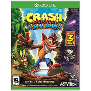 Crash Bandicoot N Sane Trilogy Video Game for Microsoft Xbox One