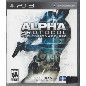 Alpha Protocol Video Game for Sony PlayStation 3