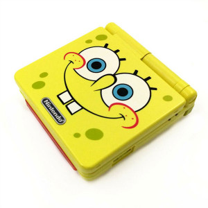 GameBoy Advance SP System Spongebob w/Charger