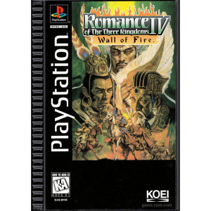Romance of the Three Kingdoms IV Wall of Fire Long Box Video Game for Sony PlayStation