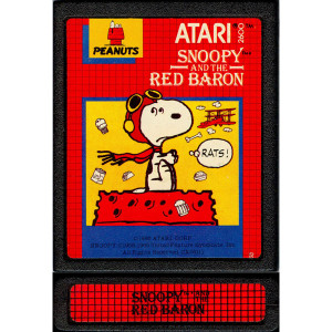 Snoopy and the Red Baron Video Game for Atari 2600