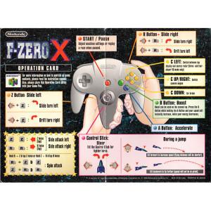 F-Zero - N64 Operation Card