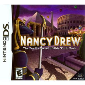 Nancy Drew The Deadly Secret of Olde World Park Video Game for Nintendo DS