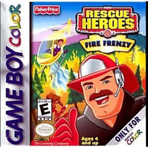 Complete Rescue Heroes Fire Frenzy Video Game for GBC