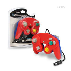New Red on Blue Mario Replica Controller - GameCube / Wii