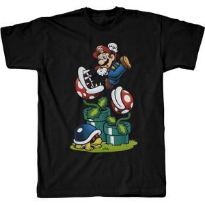 Mario w/ Piranha Plants  - Officially Licensed T-Shirt