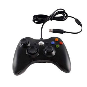 Official Xbox 360 Controller Wired Black - Xbox 360