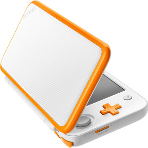 Nintendo 2DS XL White and Orange with Charger Top