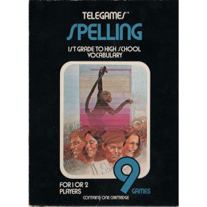 Spelling (Hangman) Video Game for Atari 2600