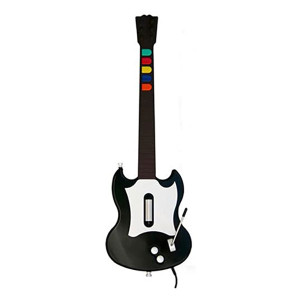 Wired Black Guitar for PS2 Gaming System