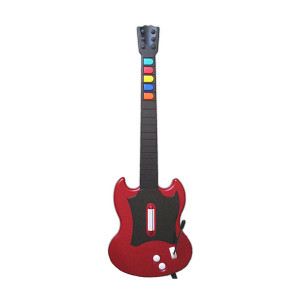 Wired Red Guitar for PS2 Gaming System
