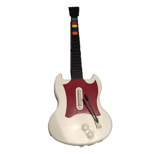 Wired White Guitar for PlayStation 2