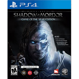 Shadow of Mordor (Middle Earth) Game of the Year Edition Video Game for Sony PlayStation 4