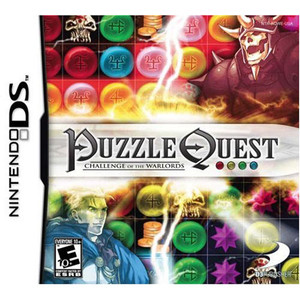 Puzzle Quest Challenge of the Warlords Video Game for Nintendo DS