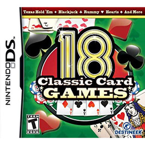 18 Classic Card Games Video Game for Nintendo DS