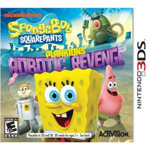 Spongebob Squarepants Plankton's Robotic Revenge Video Game for Nintendo 3DS