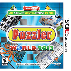 Puzzler World 2013 Video Game for Nintendo 3DS