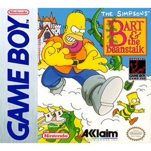 Simpsons Bart & The Beanstalk Video Game for Nintendo Game Boy