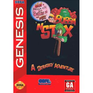 Bubba N Stix Video Game for Sega Genesis