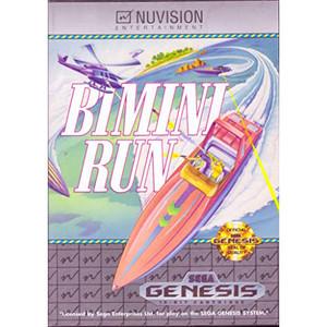 Complete Bimini Run Video Game for Sega Genesis